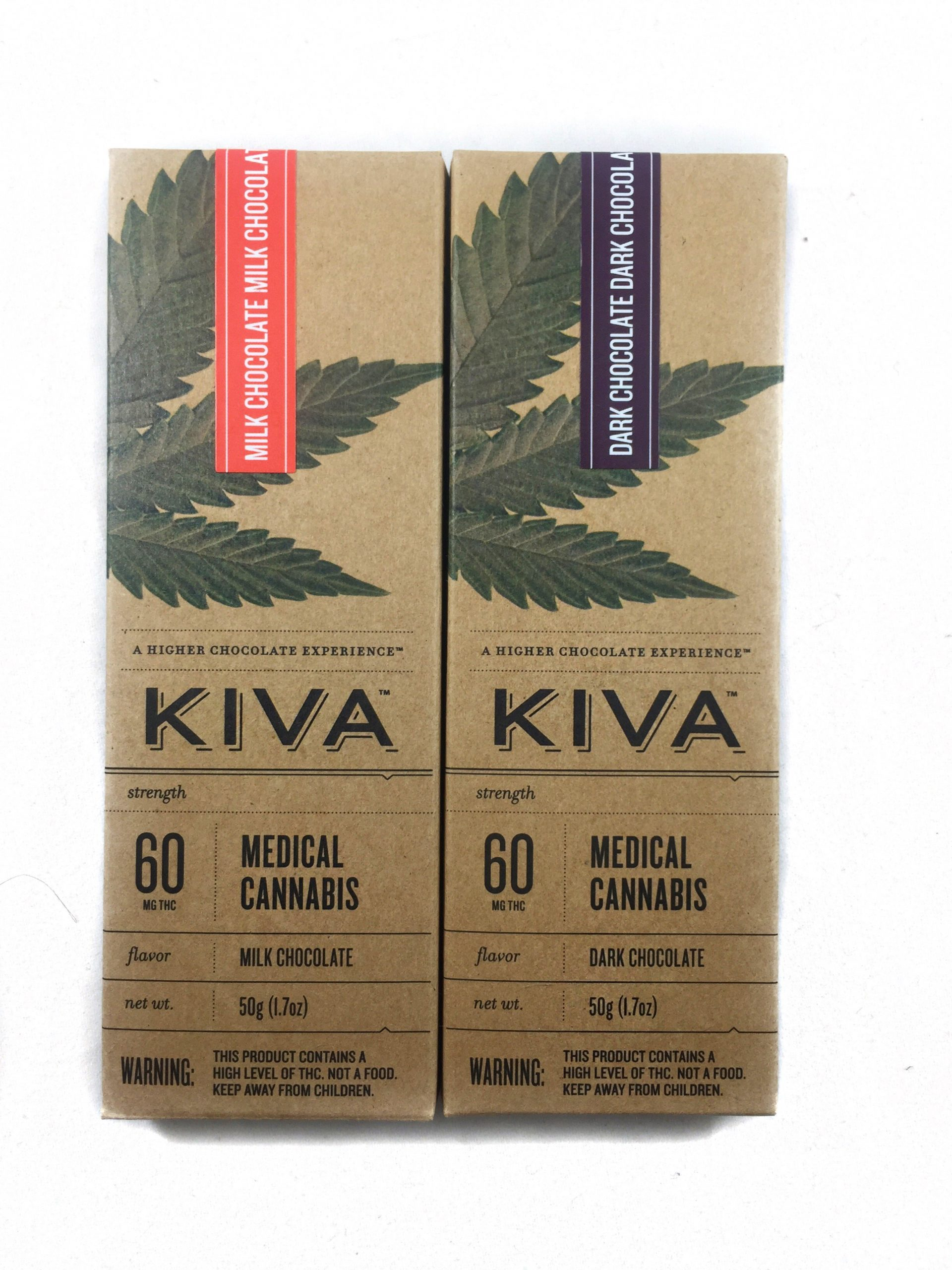 Kiva Chocolate Bars (60mg – 2 flavors) | Bud Man OC