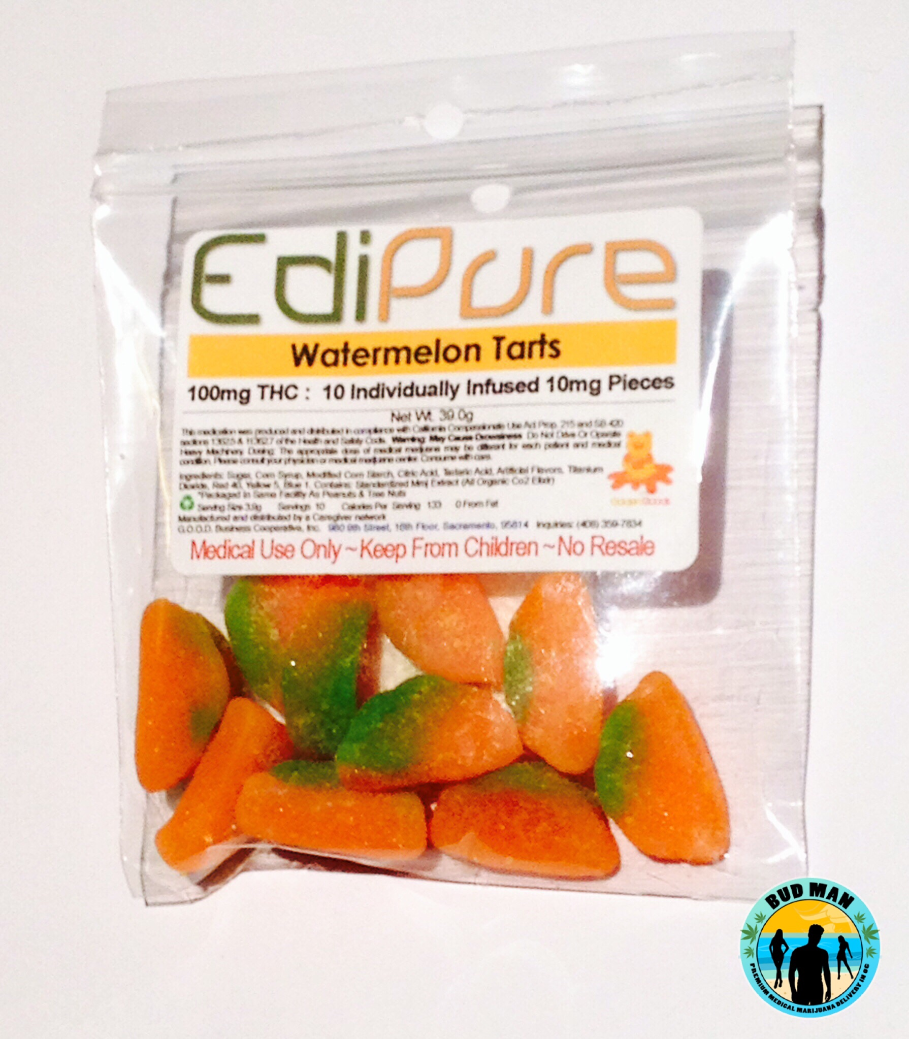 Watermelon Tarts – EdiPure (100mg) | Bud Man OC