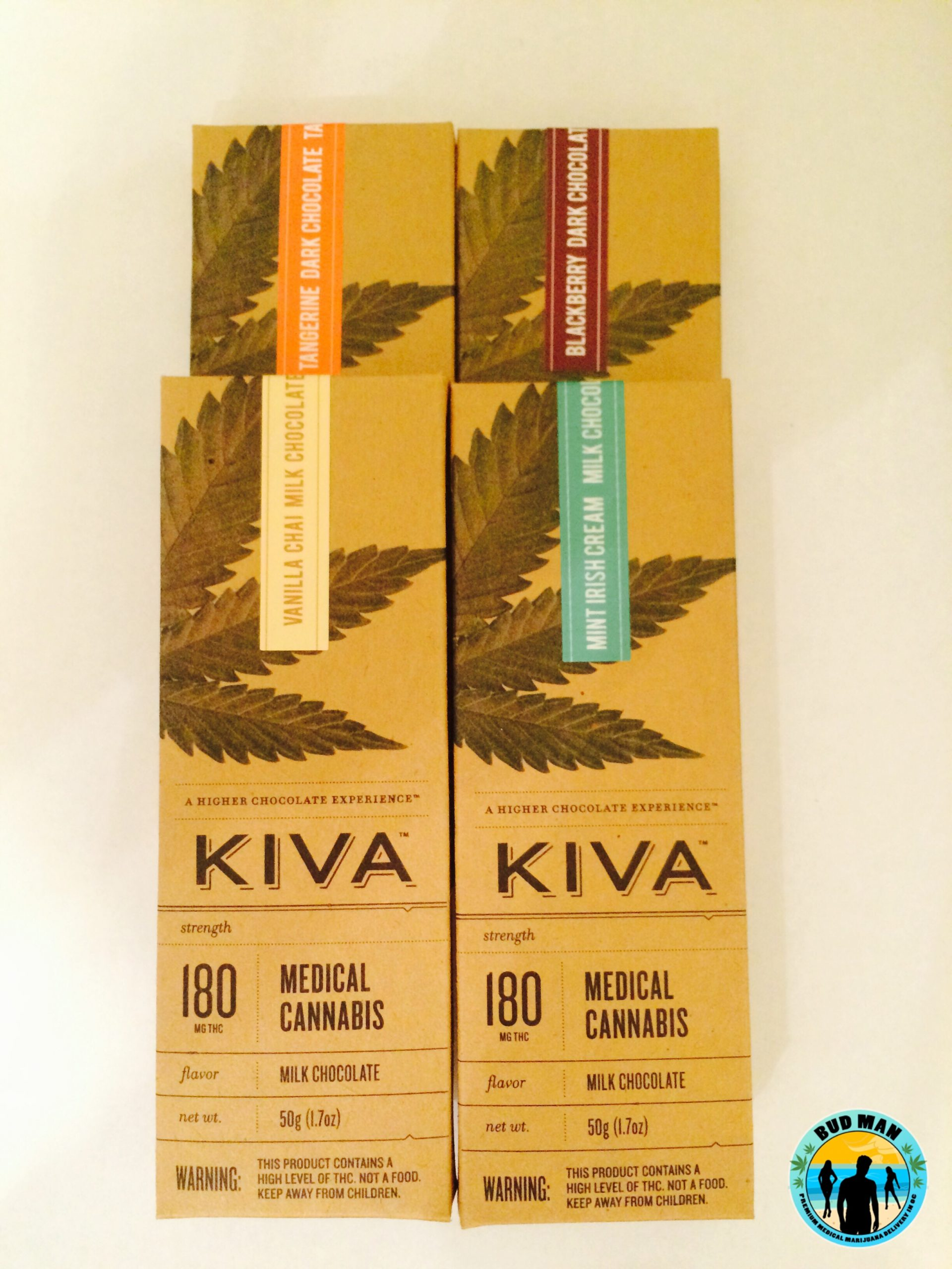 Menu – Edibles – Kiva Chocolate Bars – 180mg (4 Flavors Mint Irish ...
