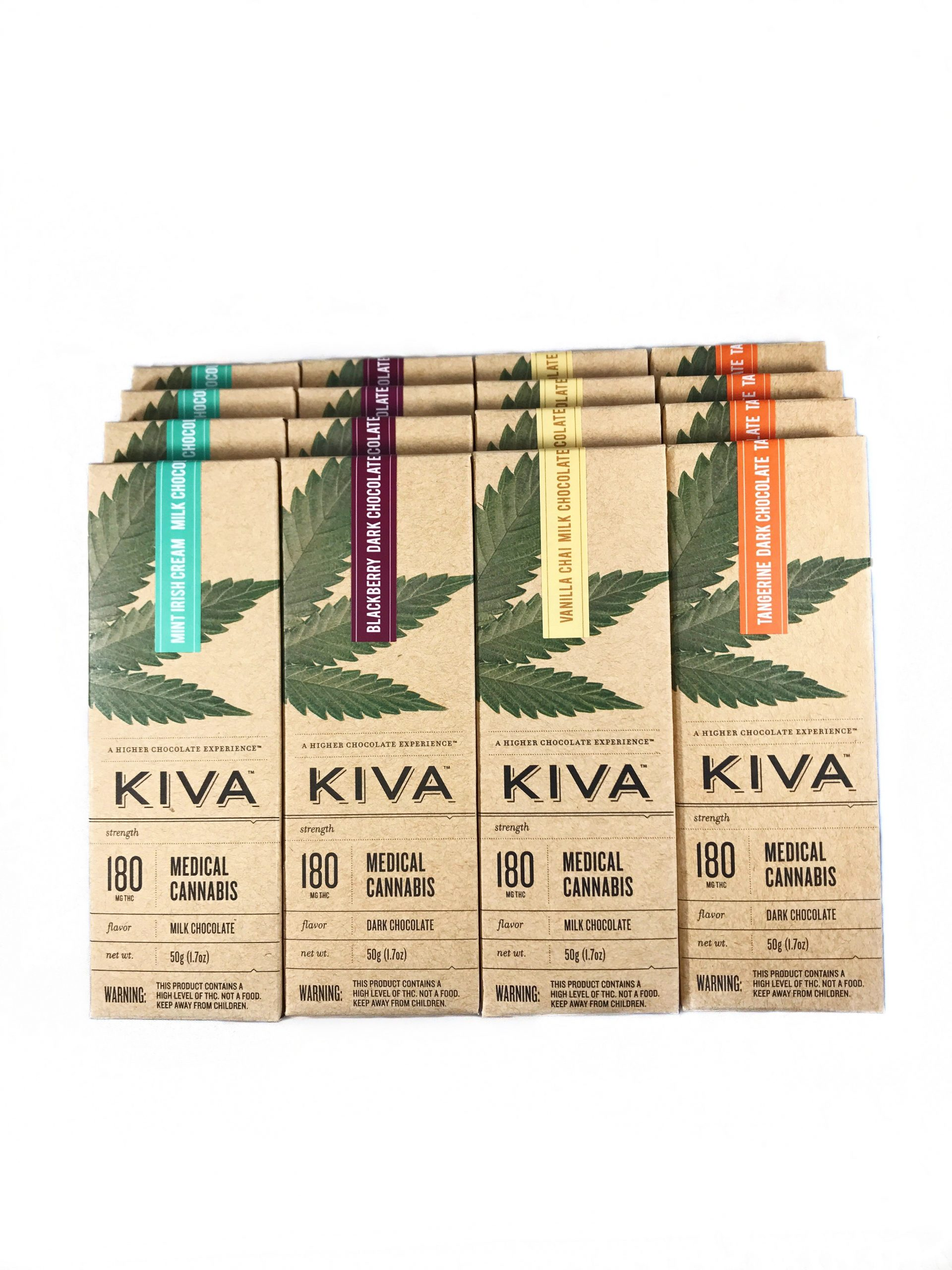 Kiva Chocolate Bars (180mg – 4 Flavors) | Bud Man OC