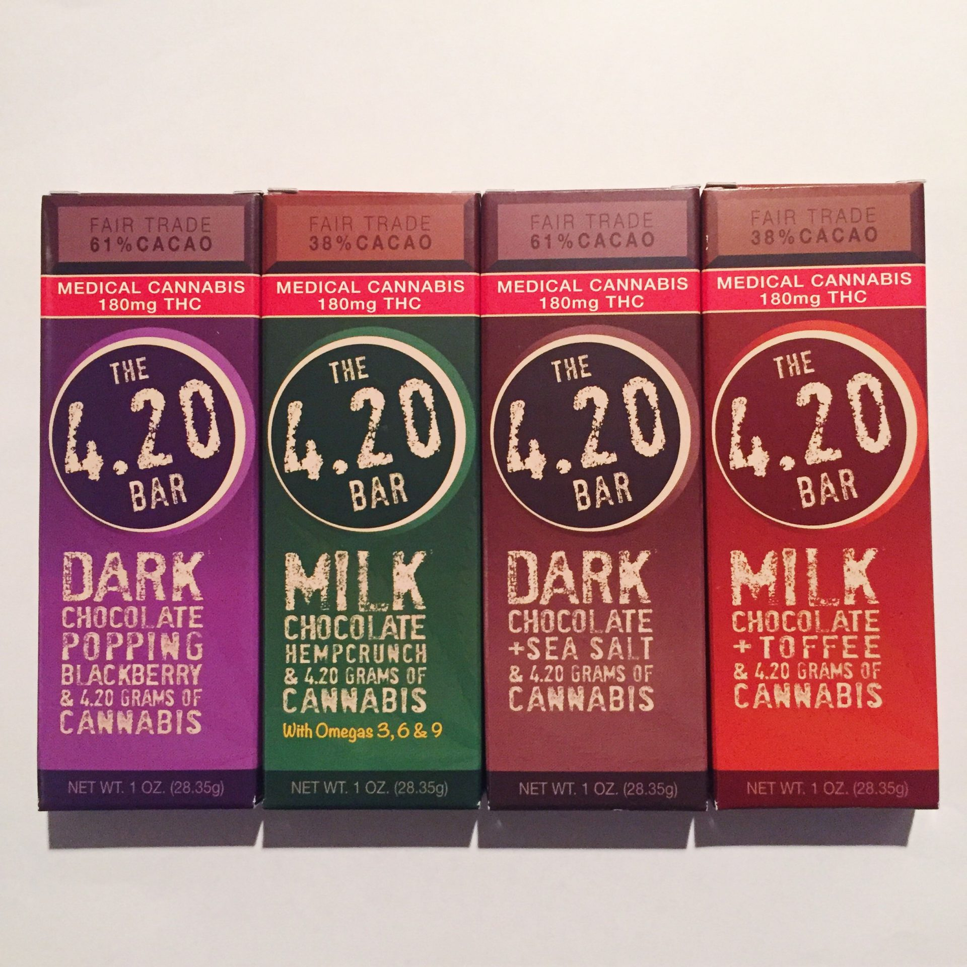 Menu – Edibles – 4.20 Chocolate Bar – Venice Cookie Co. (180mg – 4 ...