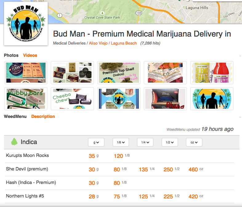 How to use weedmaps - bud man oc - Menu
