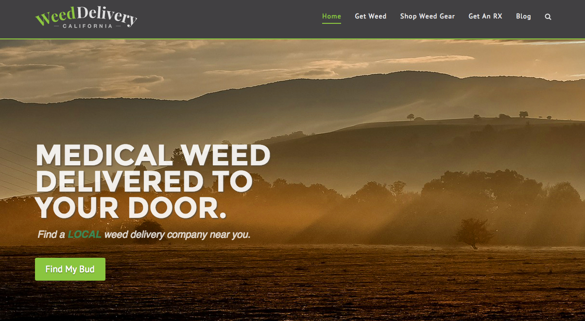 weed delivery california