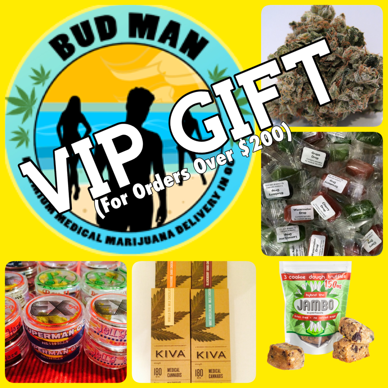 Home Page - Bud Man - Collage - VIP Gift
