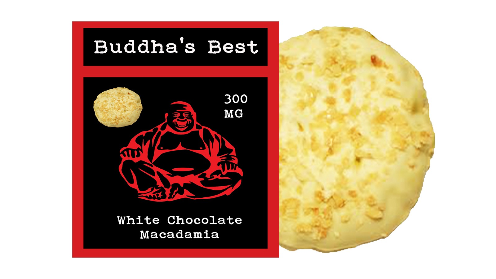 White Chocolate Macadamia – Buddha's Best Edibles (300mg THC ...