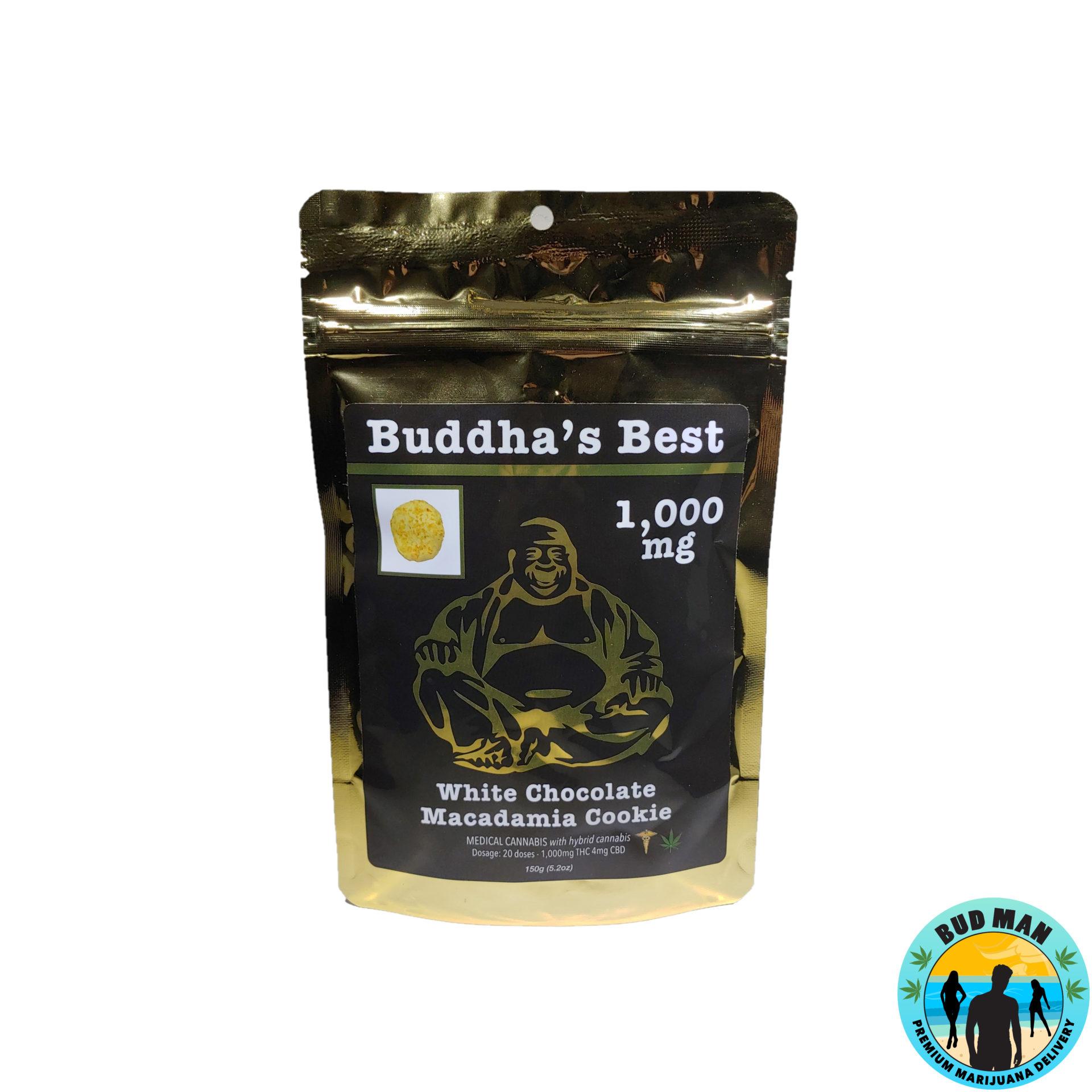 White Chocolate Macadamia – Buddha's Best Edibles (1,000 mg THC)