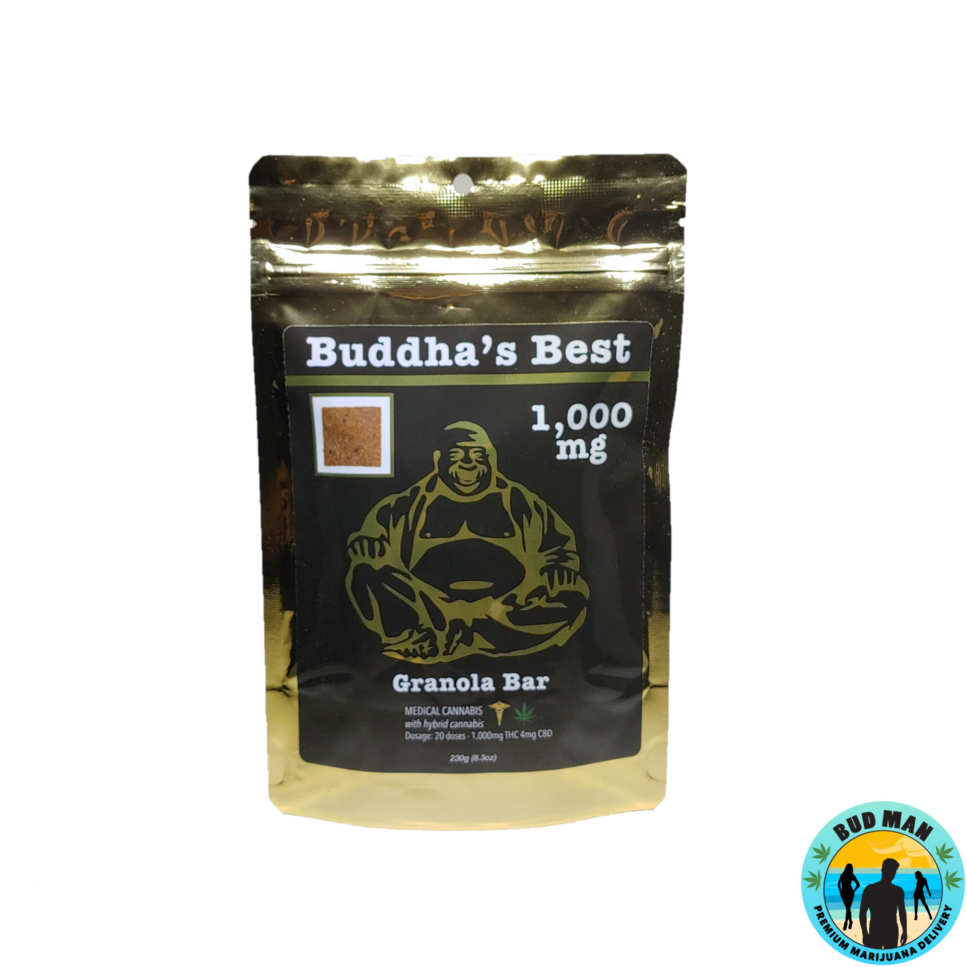Granola Bar – Buddha's Best Edibles (1,000mg THC)