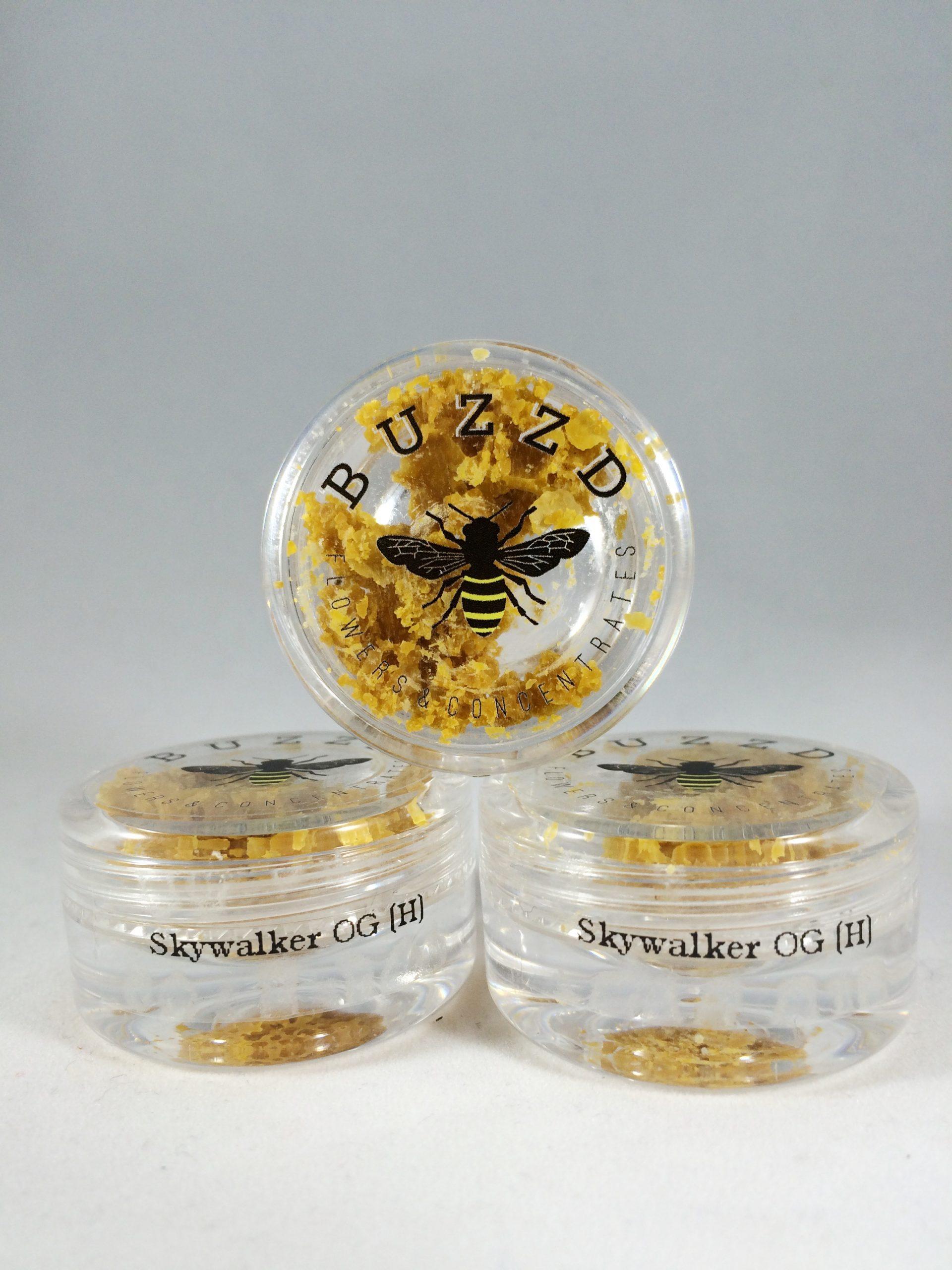 menu wax and extracts buzz d skywalker hybrid bud man
