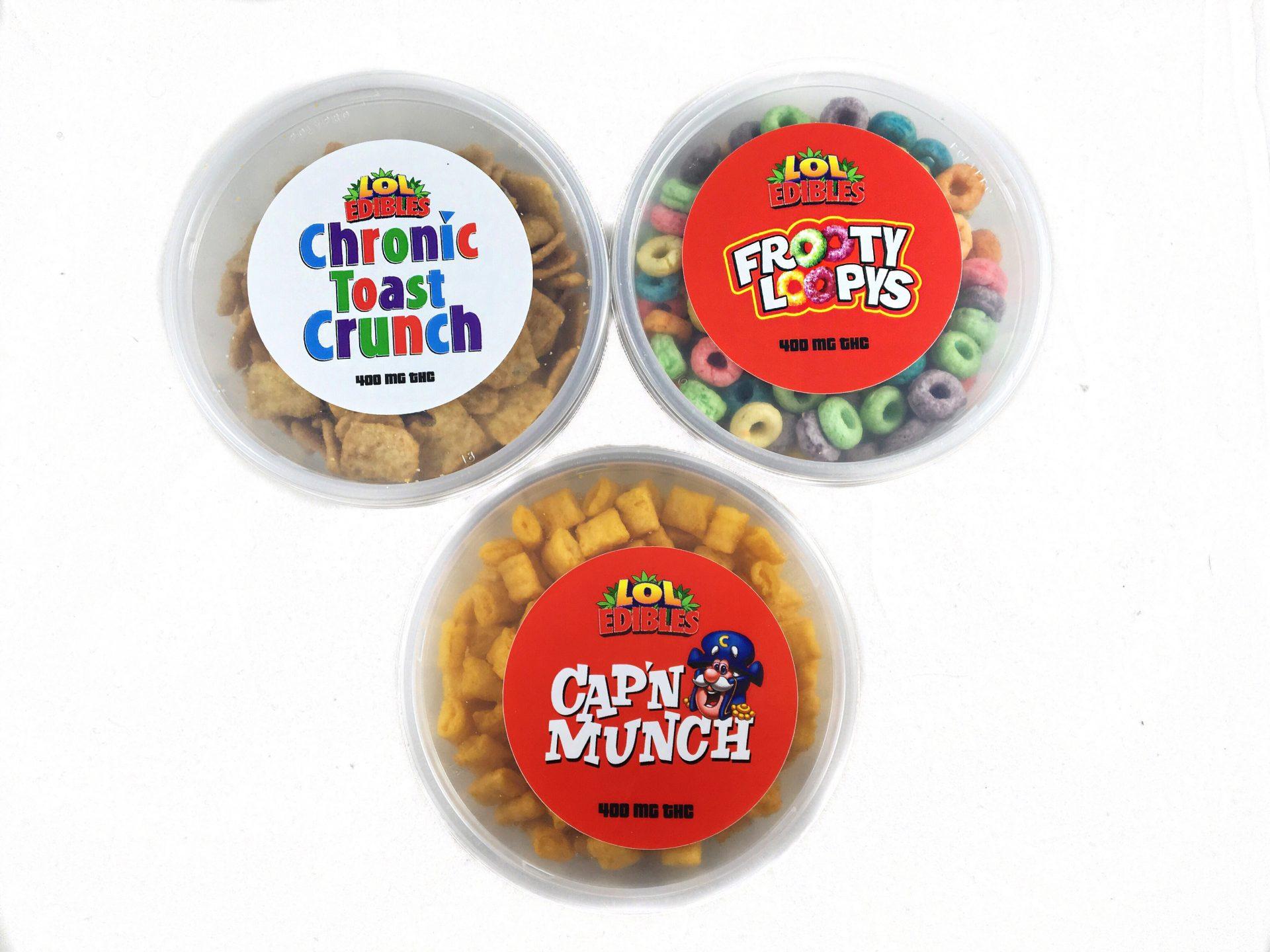 Lol pot cereal lol edibles 400mg thc 3 flavors bud man oc lol pot cereal lol edibles ccuart Image collections