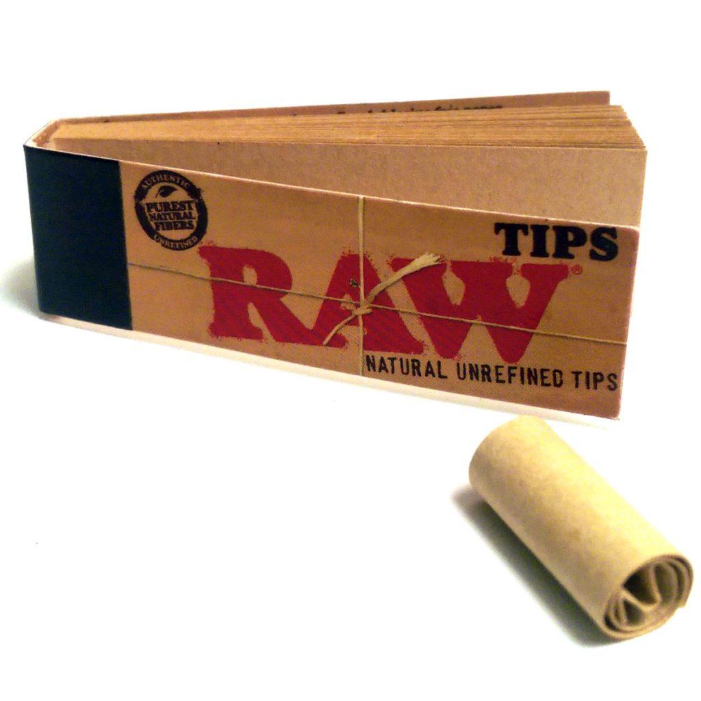 Raw Rolling Paper Tips Bud Man Oc