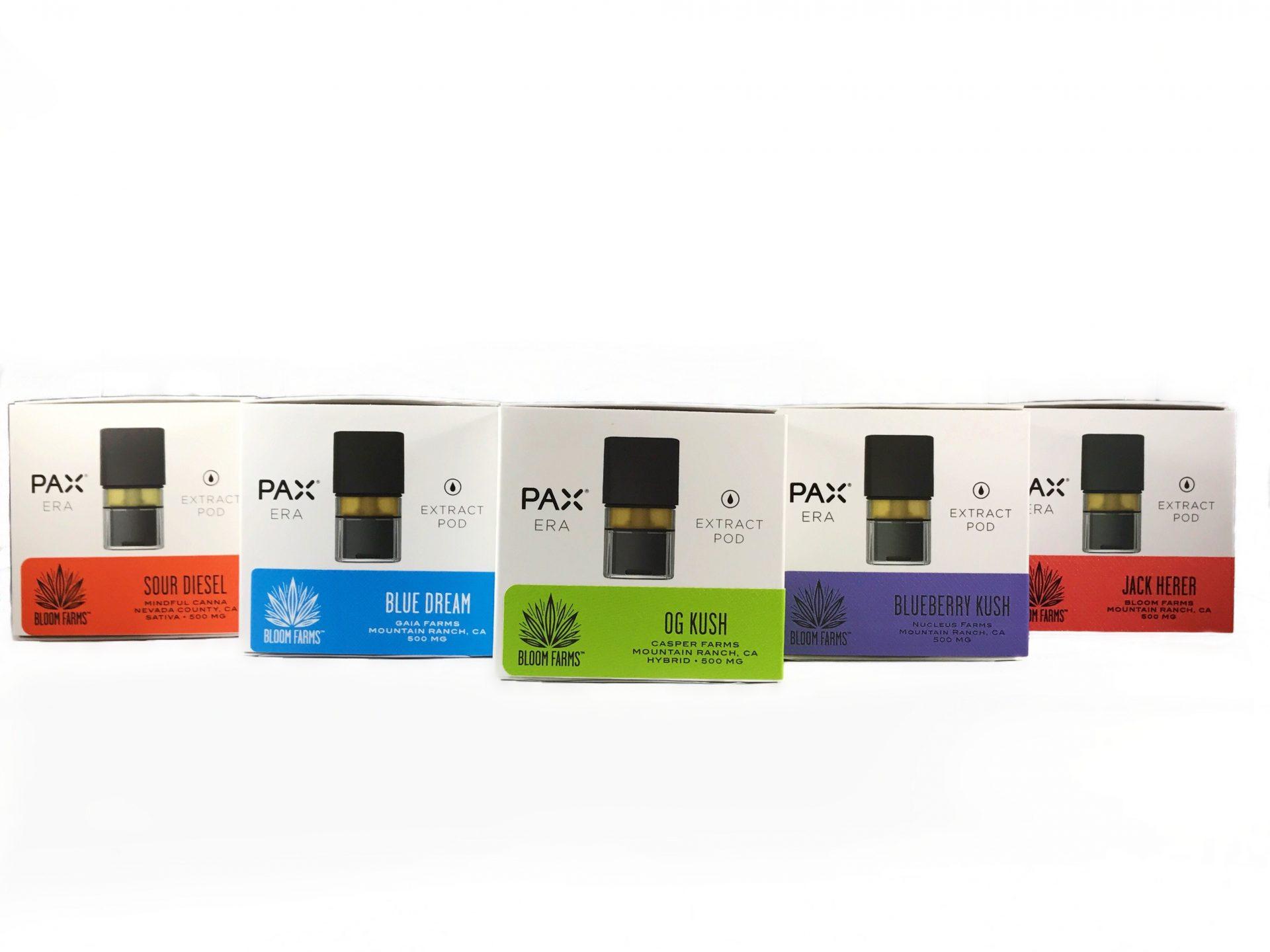 pax era oil pod strain specific bloom farms 500mg 10