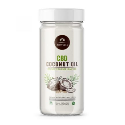 CBD Coconut Oil Jar-Biovelle