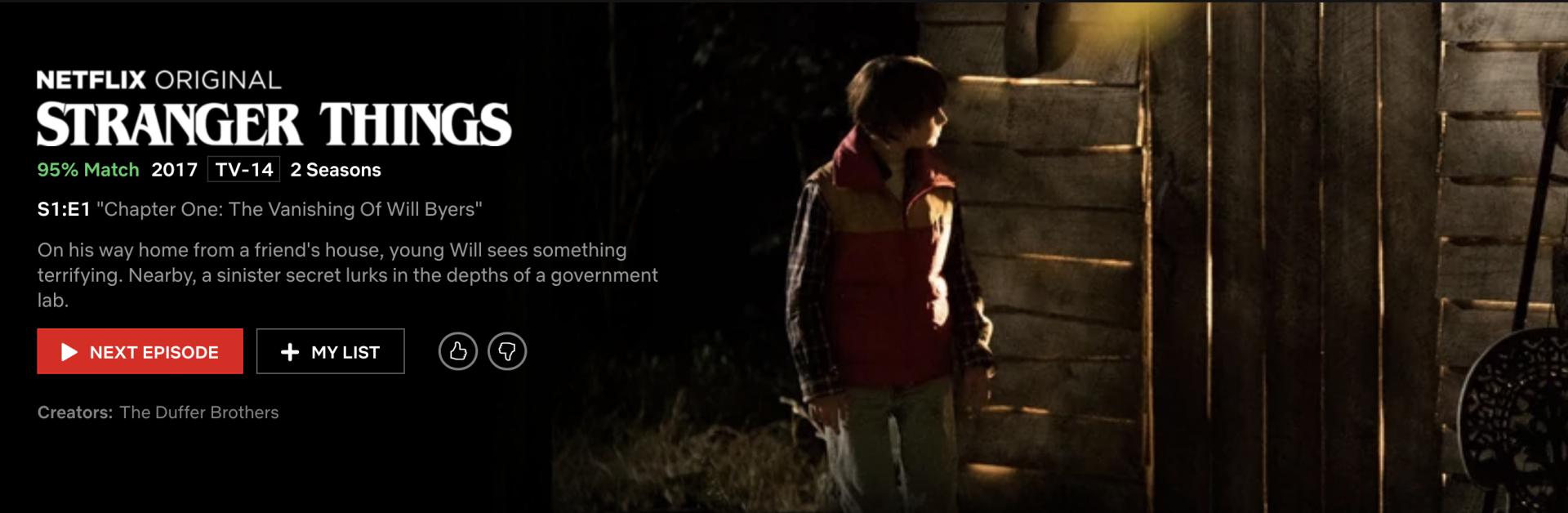 Stranger Things – Netflix Original