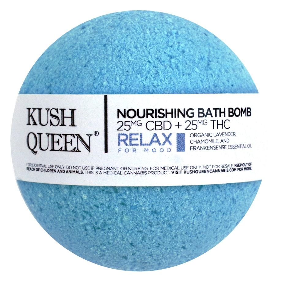 Nourishing Bath Bomb CBD / THC – Kush Queen (2 types)   Bud Man OC