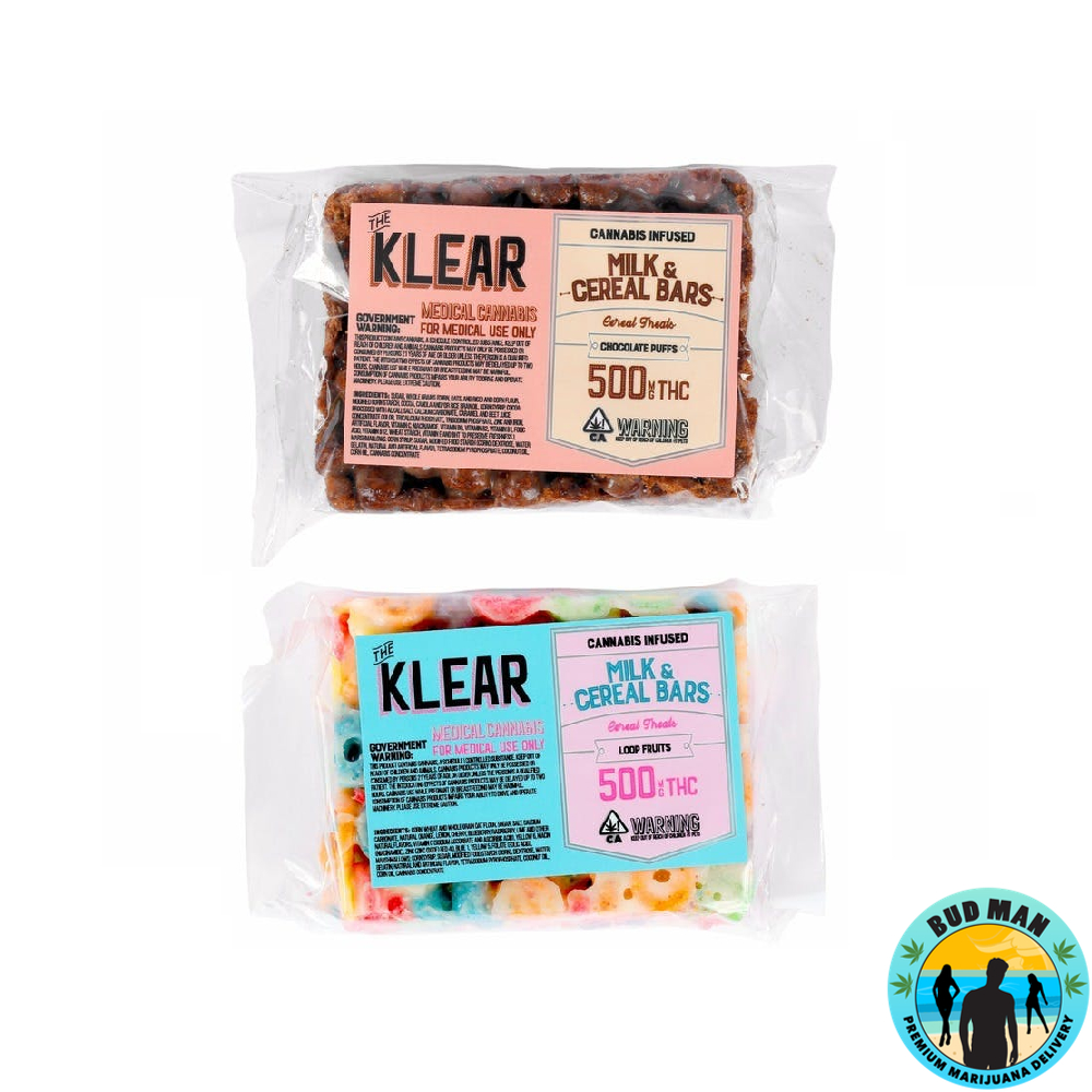 The Klear Milk And Cereal Bars (500mg THC
