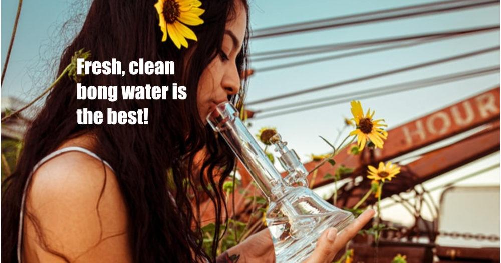 clean bong water